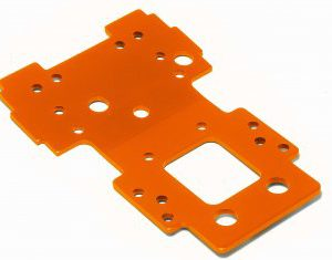 105892 BULKHEAD LOWER PLATE 2.5mm (ORANGE)