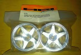2175 S.S. MT WHEELS CHROME FOR RC10T, XL-T FRONT