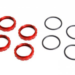 6252R Shock adjuster nuts-Red
